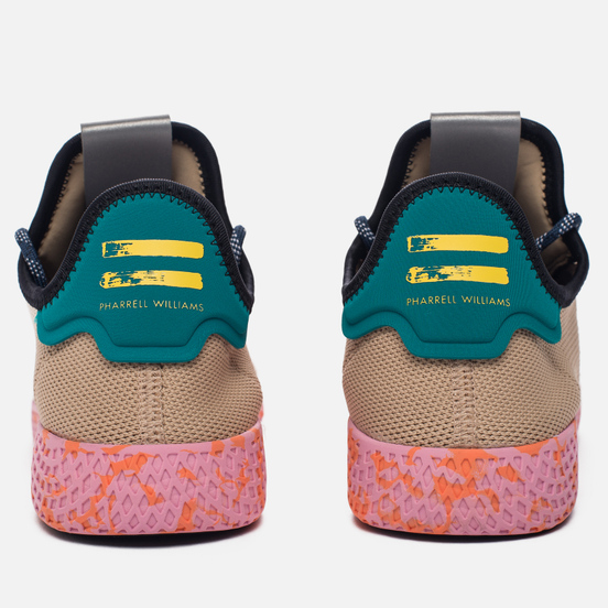 Мужские кроссовки adidas Originals x Pharrell Williams Tennis Hu Tan/Teal/Pink Marble