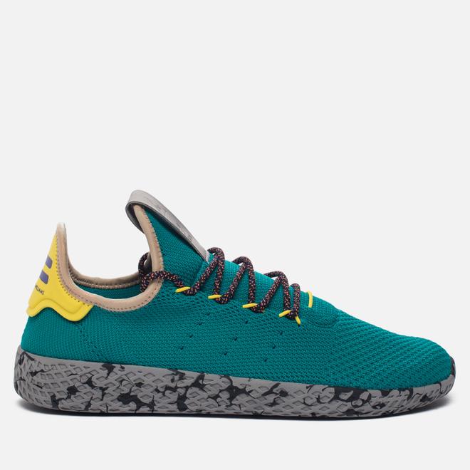 Кроссовки adidas Originals x Pharrell Williams Tennis Hu Teal/Semi Frozen Yellow/Grey Marble