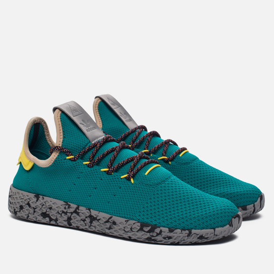 Кроссовки adidas Originals x Pharrell Williams Tennis Hu Teal/Semi Frozen Yellow/Grey Marble