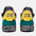 Кроссовки adidas Originals x Pharrell Williams Tennis Hu Teal/Semi Frozen Yellow/Grey Marble фото- 5
