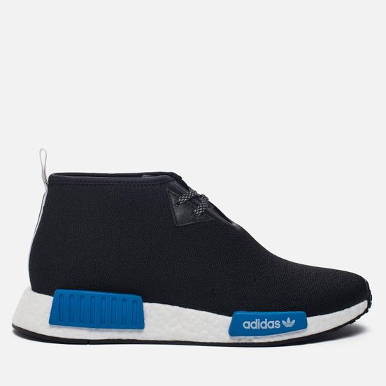Кроссовки adidas Originals x Porter NMD C1 Black/White/Blue