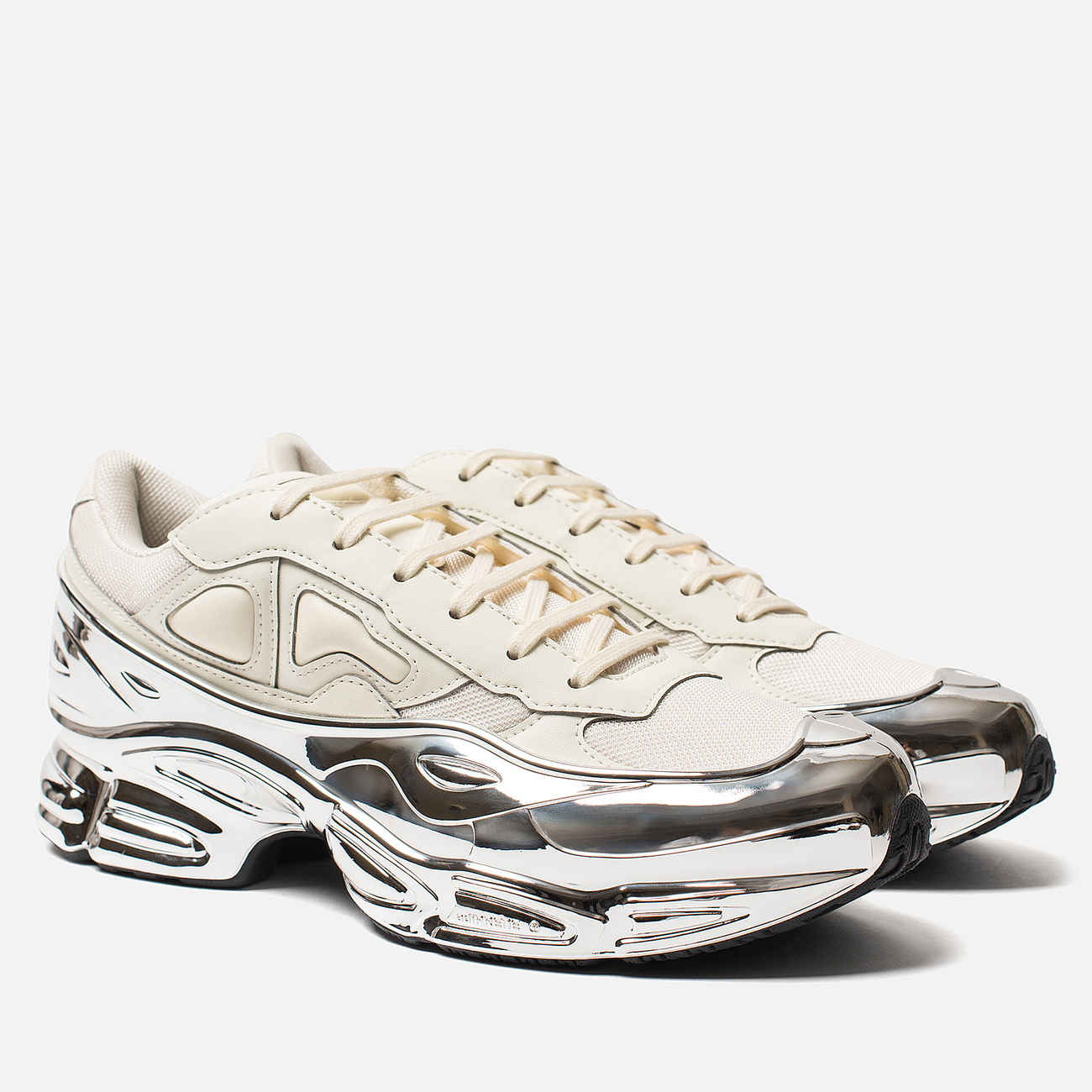 Кроссовки adidas Originals x Raf Simons Ozweego Cream White/Silver Metallic/Silver Metallic