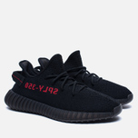 Кроссовки adidas Originals Yeezy Boost 350 V2 Core Black/Core Black/Red фото- 2