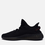 Кроссовки adidas Originals Yeezy Boost 350 V2 Core Black/Core Black/Red фото- 5