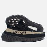 Кроссовки adidas Originals Yeezy Boost 350 V2 Core Black/Green фото- 1