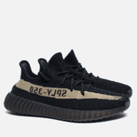 Кроссовки adidas Originals Yeezy Boost 350 V2 Core Black/Green фото- 2