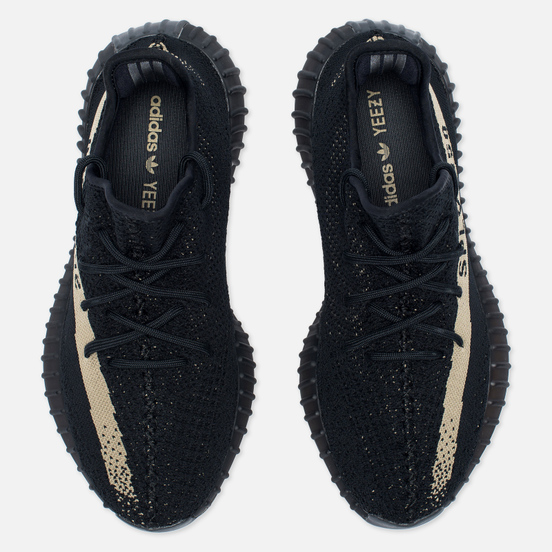 Кроссовки adidas Originals YEEZY Boost 350 V2 Core Black/Green