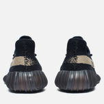 Кроссовки adidas Originals Yeezy Boost 350 V2 Core Black/Green фото- 4