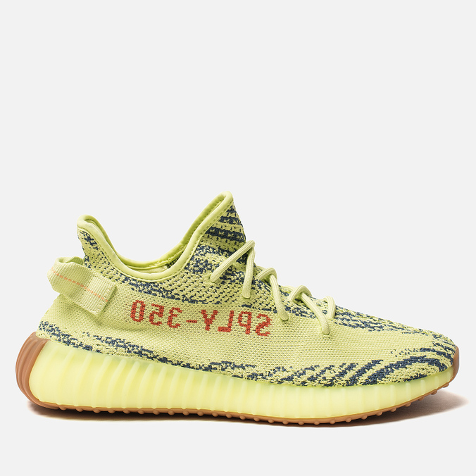Кроссовки adidas Originals Yeezy Boost 350 V2 Semi/Frozen Yellow/Raw Steel/Red
