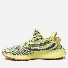 Кроссовки adidas Originals Yeezy Boost 350 V2 Semi/Frozen Yellow/Raw Steel/Red фото- 1