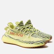 Кроссовки adidas Originals Yeezy Boost 350 V2 Semi/Frozen Yellow/Raw Steel/Red фото- 2
