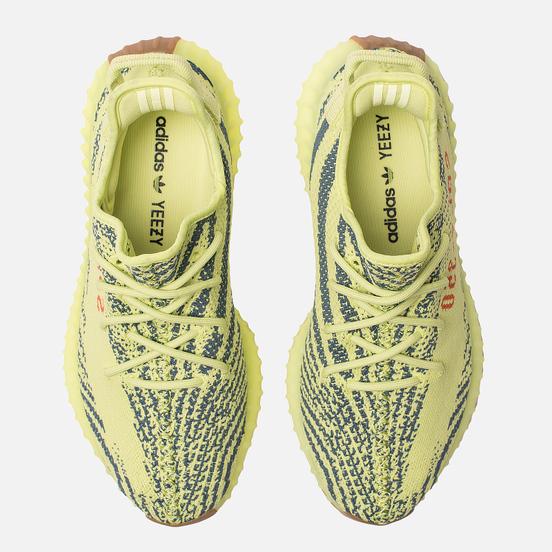 Кроссовки adidas Originals YEEZY Boost 350 V2 Semi/Frozen Yellow/Raw Steel/Red