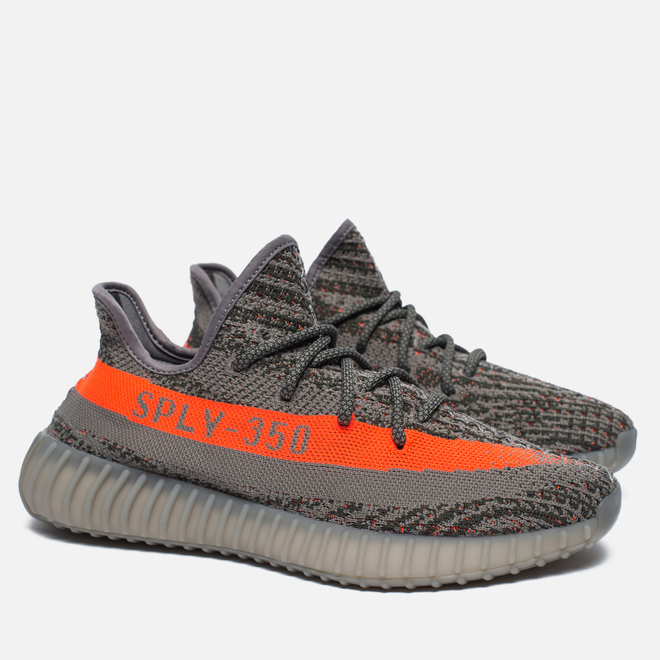 Кроссовки adidas Originals Yeezy Boost 350 V2 Stealth Grey/Beluga/Solar Red