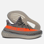 Кроссовки adidas Originals Yeezy Boost 350 V2 Stealth Grey/Beluga/Solar Red фото- 2