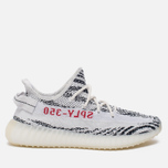 Кроссовки adidas Originals Yeezy Boost 350 V2 White/Core Black/Red фото- 0