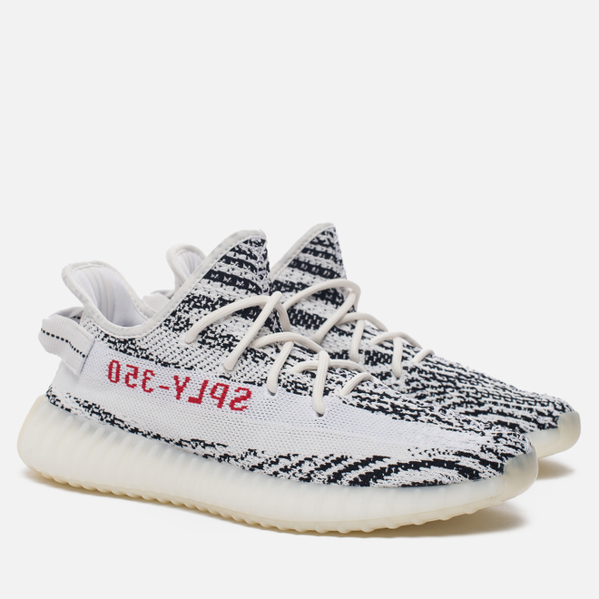 Кроссовки adidas Originals Yeezy Boost 350 V2 White/Core Black/Red