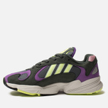 Кроссовки adidas Originals Yung-1 Legend Ivy/Hi-Res Yellow/Act Purple фото- 1