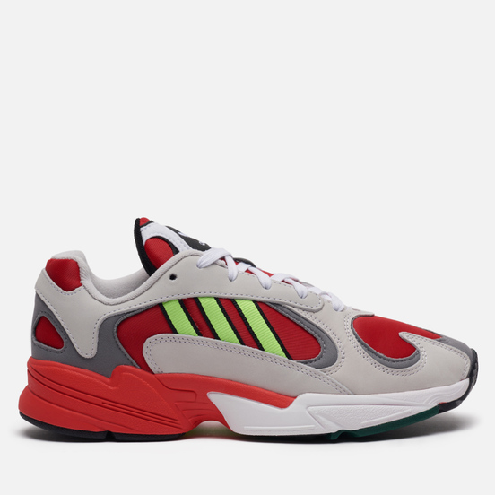 Кроссовки adidas Originals Yung-1 White/Signal Green/Solar Red