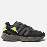 Кроссовки adidas Originals Yung-96 Carbon/Grey/Solar Yellow фото- 0