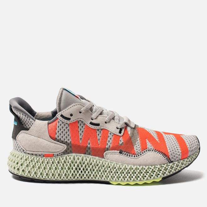 Кроссовки adidas Originals ZX 4000 4D Grey One/Linen Green/Bright Cyan