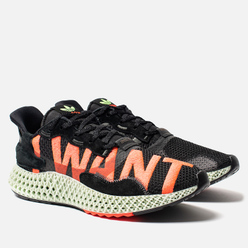 Кроссовки adidas Originals ZX 4000 4D I Want I Can Core Black/Hi-Res Yellow/Bright Cyan