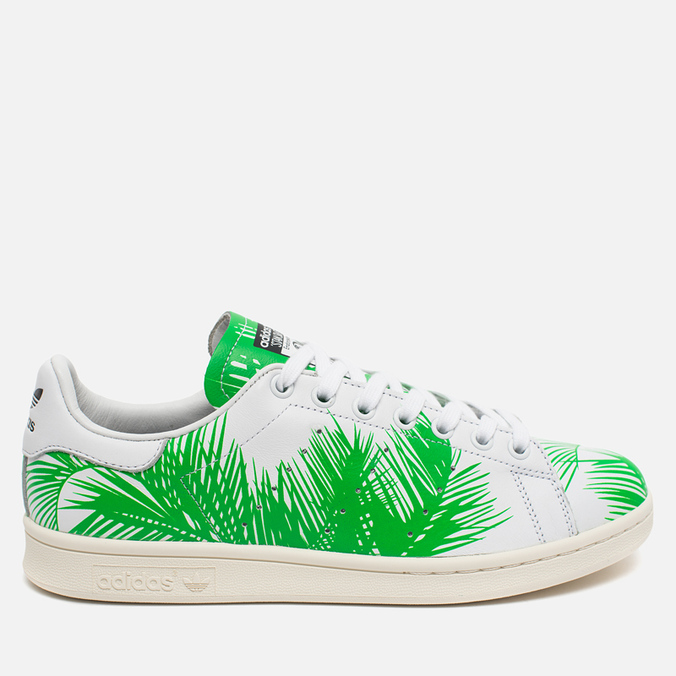Кроссовки adidas Consortium x Pharrell Williams Stan Smith BBC Palm Tree Pack White/Green