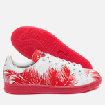 Кроссовки adidas Consortium x Pharrell Williams Stan Smith BBC Palm Tree Pack White/Red фото- 2