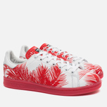 Кроссовки adidas Consortium x Pharrell Williams Stan Smith BBC Palm Tree Pack White/Red фото- 1