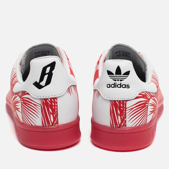 Кроссовки adidas Consortium x Pharrell Williams Stan Smith BBC Palm Tree Pack White/Red