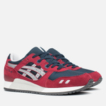 Кроссовки ASICS Gel-Lyte III Burgundy/Soft Grey фото- 1