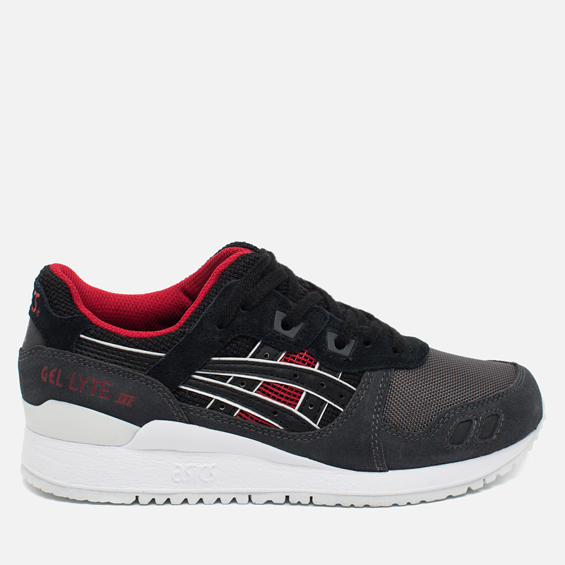 Asics gel lyte iii grey black red-5344