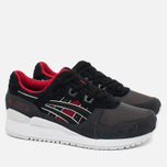 Кроссовки ASICS Gel-Lyte III Dark Grey/Black/Red фото- 2