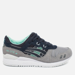 Кроссовки ASICS Gel-Lyte III Grey/Dark Blue/Mint фото- 0