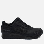 Кроссовки ASICS Gel-Lyte III Leather Triple Black фото- 0