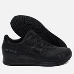 Кроссовки ASICS Gel-Lyte III Leather Triple Black фото- 2