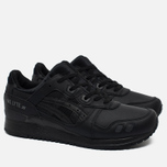 Кроссовки ASICS Gel-Lyte III Leather Triple Black фото- 1