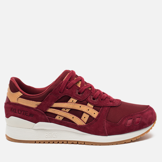 Кроссовки ASICS Gel-Lyte III Vegetan Pack Burgundy/Tan