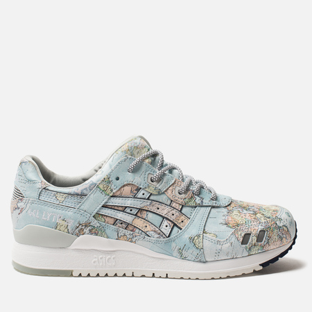 Кроссовки ASICS x atmos Gel-Lyte III World Map Sky/Peacoat