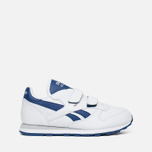 Детские кроссовки Reebok Classic Leather POP SC 2V RSA White/Club Blue фото- 0