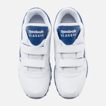 Детские кроссовки Reebok Classic Leather POP SC 2V RSA White/Club Blue фото- 4