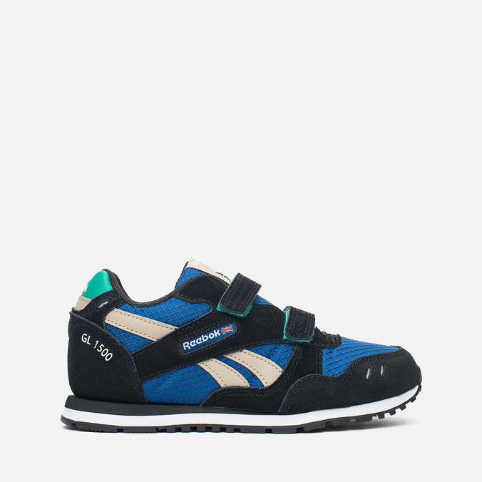 Детские кроссовки Reebok GL 1500 Handy Blue/Black/Oatmeal/White/Glass Green