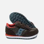 Saucony B Jazz Triple HL Children's Sneakers Brown/Blue photo- 2