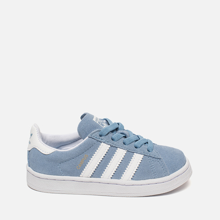 Кроссовки для малышей adidas Originals Campus EL Infant Ash Blue/Running White/Running White