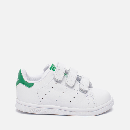 Кроссовки для малышей adidas Originals Stan Smith Infant White/White/Green