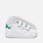 Кроссовки для малышей adidas Originals Stan Smith Infant White/White/Green фото- 1
