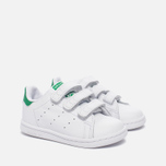Кроссовки для малышей adidas Originals Stan Smith Infant White/White/Green фото- 2