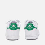 Кроссовки для малышей adidas Originals Stan Smith Infant White/White/Green фото- 3