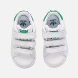 Кроссовки для малышей adidas Originals Stan Smith Infant White/White/Green фото- 4