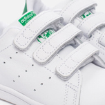 Кроссовки для малышей adidas Originals Stan Smith Infant White/White/Green фото- 5