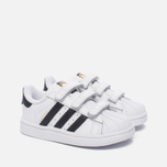 Кроссовки для малышей adidas Originals Superstar Infant White/Core Black/White фото- 2